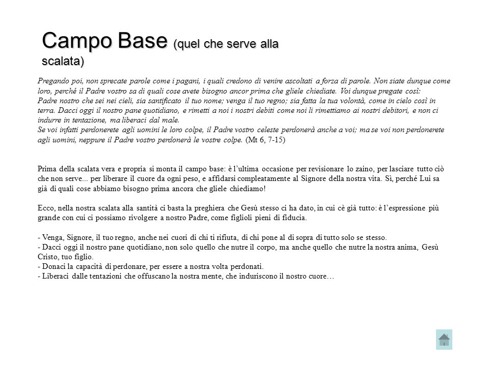 Campo Base (quel che serve alla scalata)