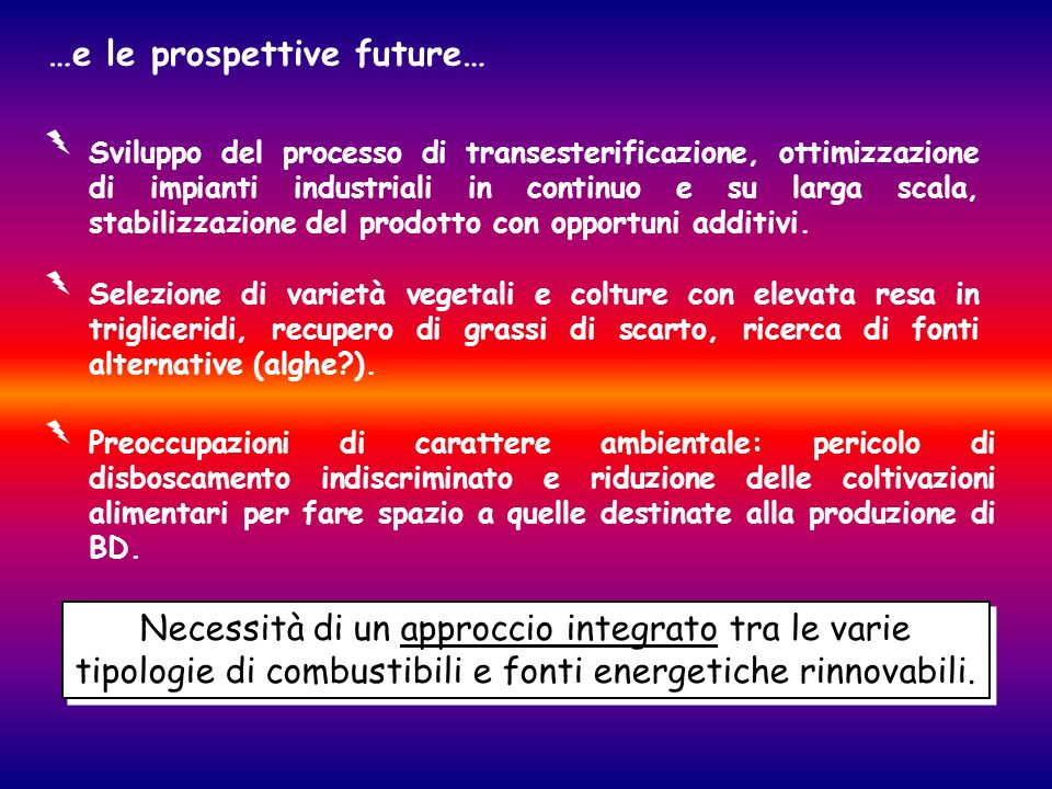 …e le prospettive future…
