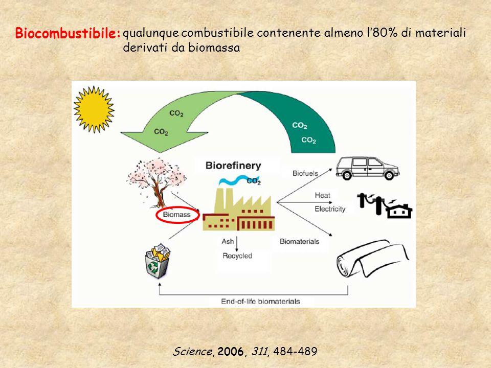 Biocombustibile: qualunque combustibile contenente almeno l'80% di materiali derivati da biomassa.