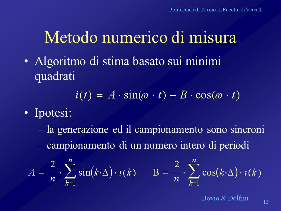Metodo numerico di misura