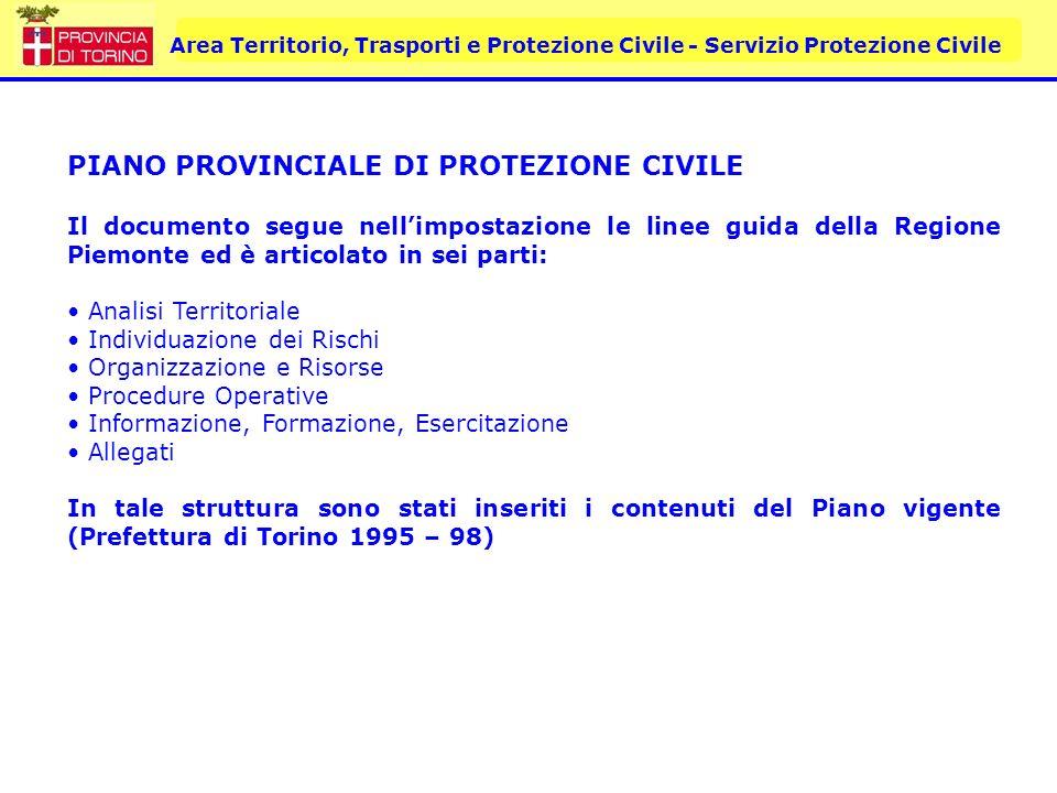 PIANO PROVINCIALE DI PROTEZIONE CIVILE