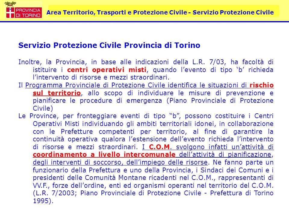 Servizio Protezione Civile Provincia di Torino