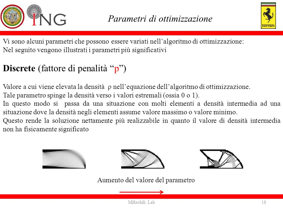 Parametri di ottimizzazione