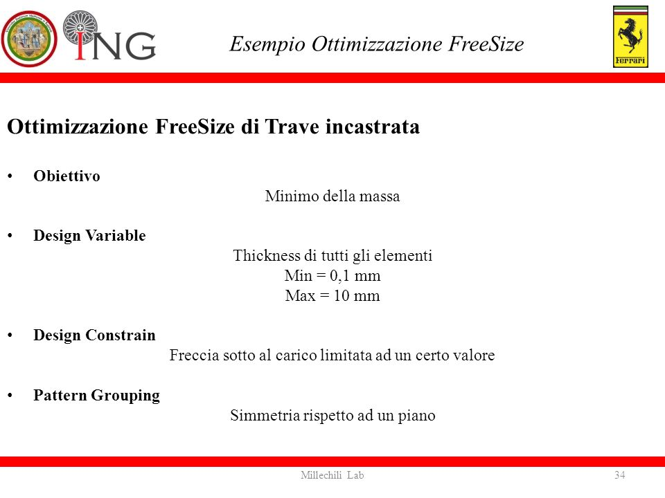 Esempio Ottimizzazione FreeSize