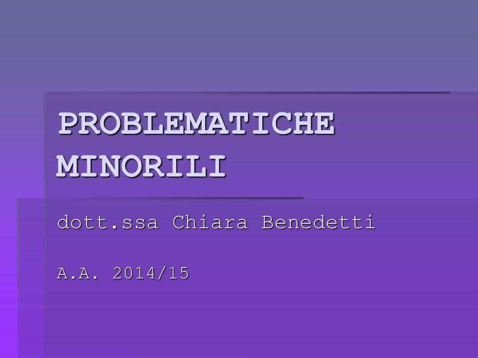 PROBLEMATICHE MINORILI