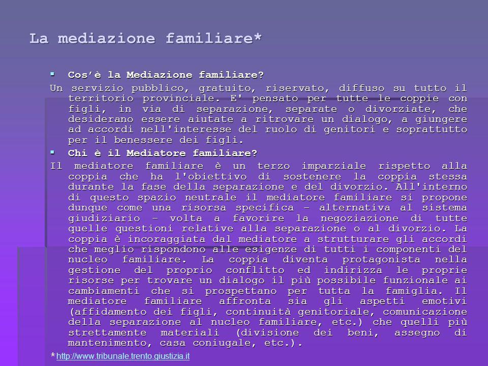 La mediazione familiare*