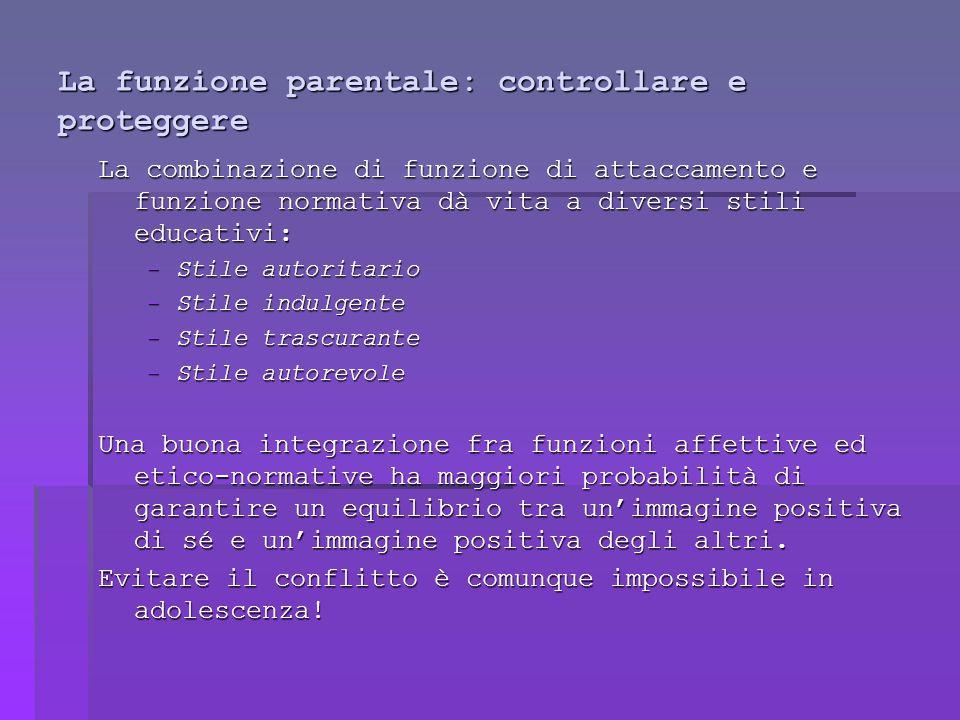 La funzione parentale: controllare e proteggere