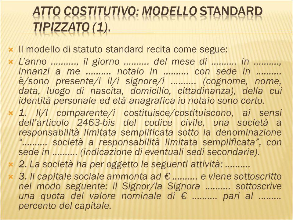 Atto Costitutivo: modello standard tipizzato (1).
