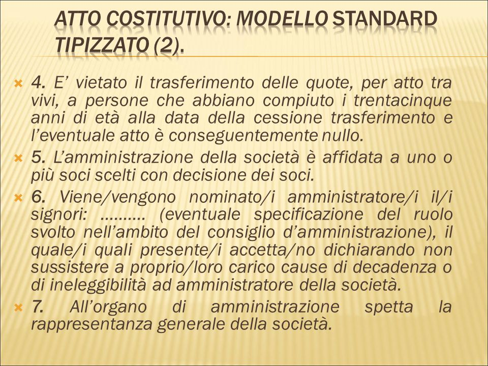 Atto Costitutivo: modello standard tipizzato (2).