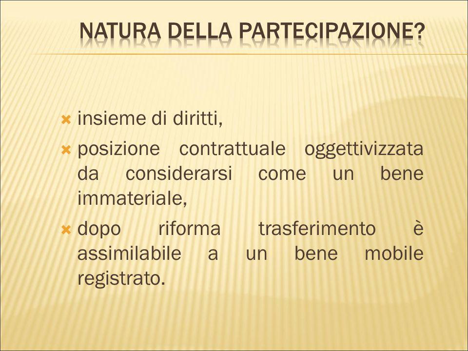 Natura della partecipazione
