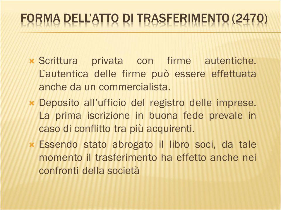 Forma dell'atto di trasferimento (2470)