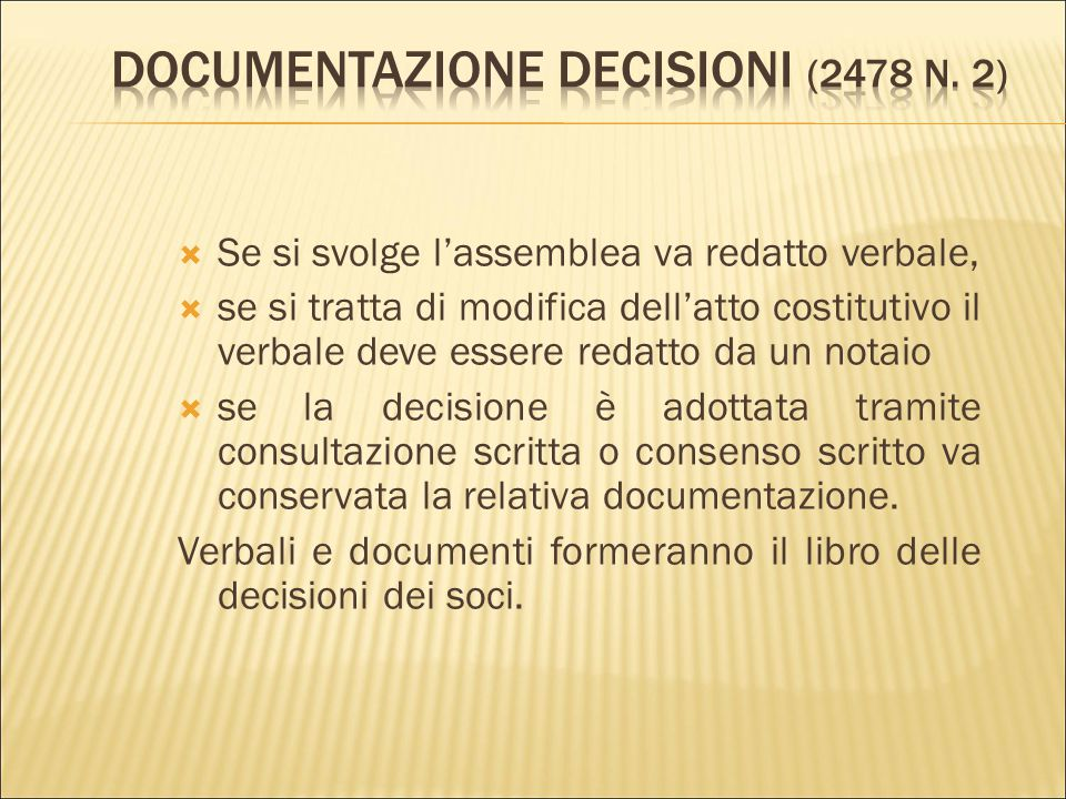 Documentazione decisioni (2478 n. 2)