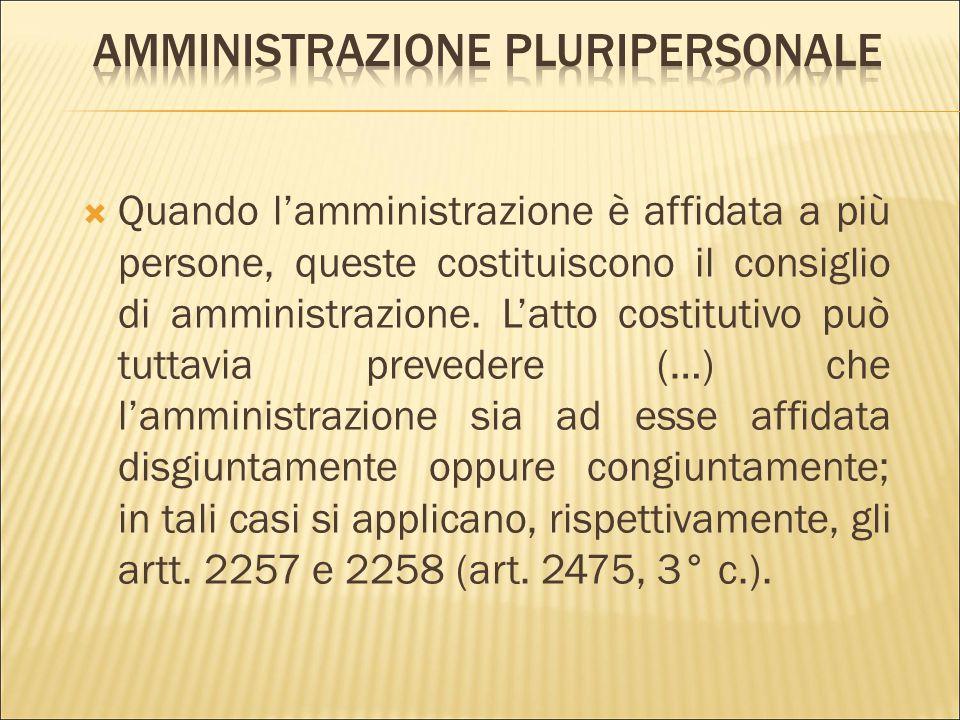 Amministrazione pluripersonale
