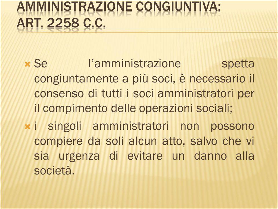 Amministrazione congiuntiva: art. 2258 c.c.