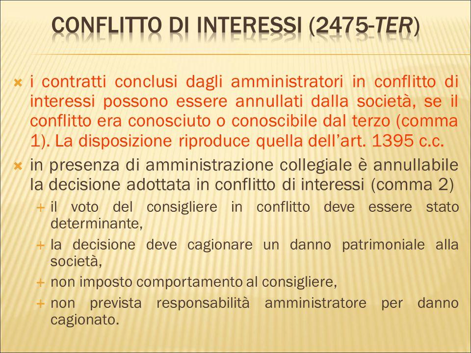 Conflitto di interessi (2475-ter)