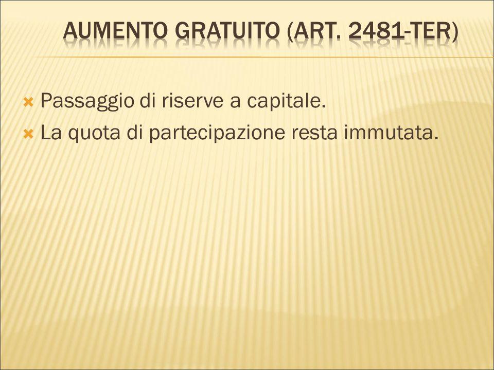 Aumento gratuito (art. 2481-ter)