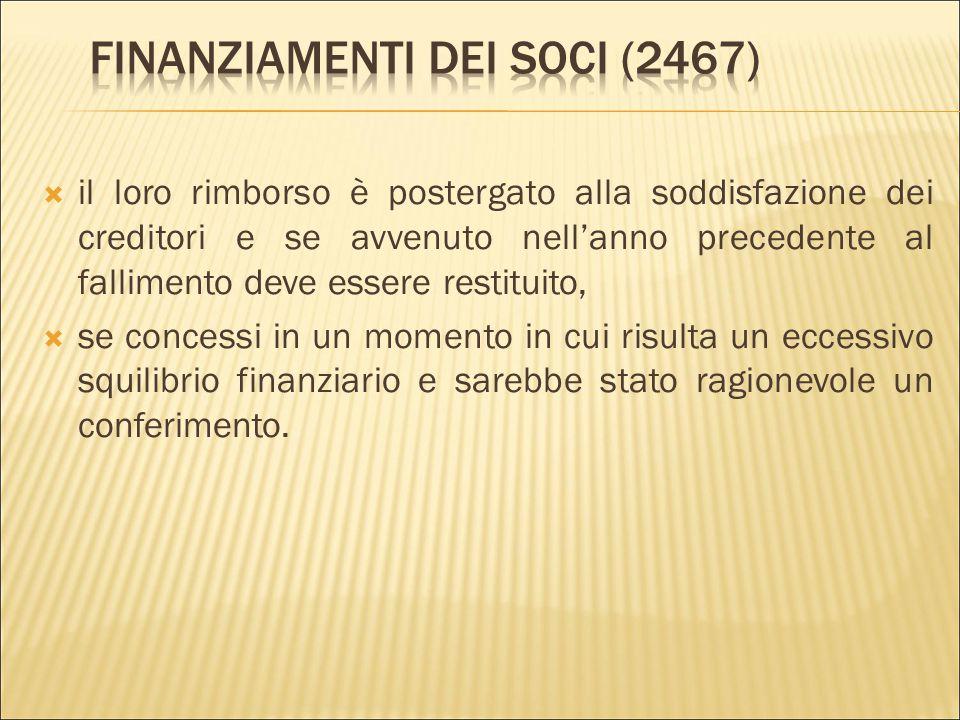 Finanziamenti dei soci (2467)
