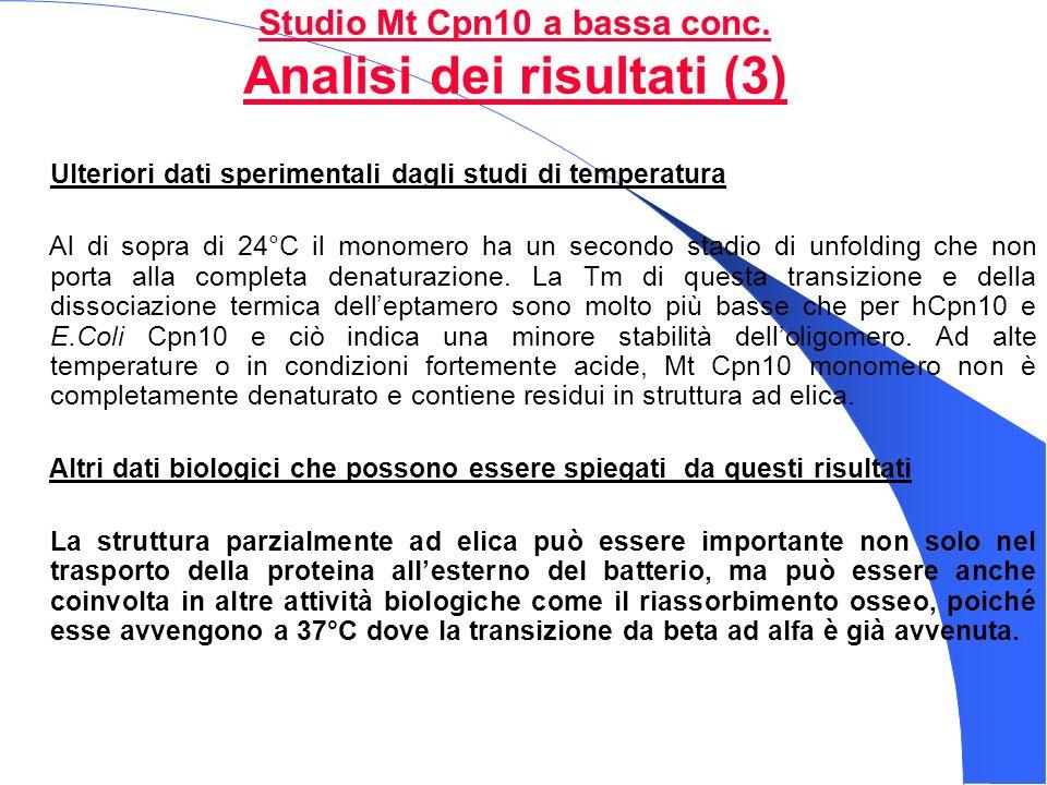 Studio Mt Cpn10 a bassa conc. Analisi dei risultati (3)