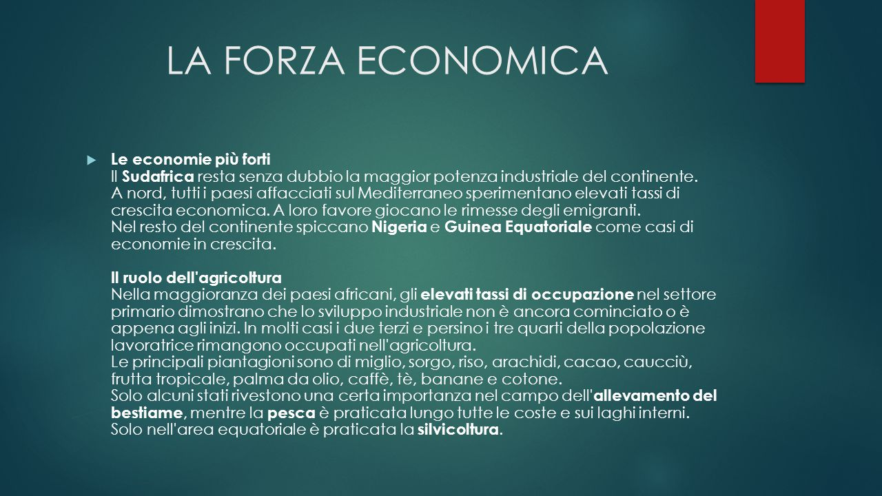 LA FORZA ECONOMICA