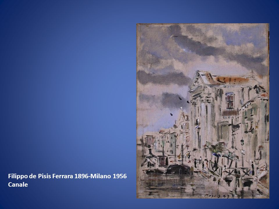 Filippo de Pisis Ferrara 1896-Milano 1956
