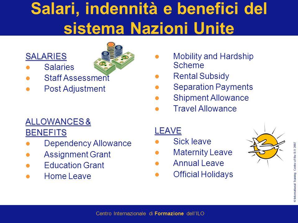 Salari, indennità e benefici del sistema Nazioni Unite
