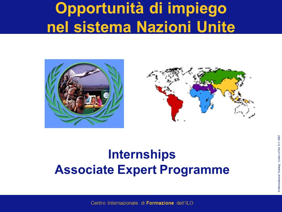 Opportunità di impiego nel sistema Nazioni Unite