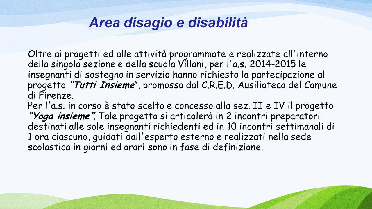 Area disagio e disabilità