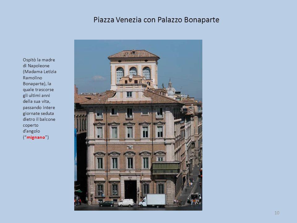 Piazza Venezia con Palazzo Bonaparte