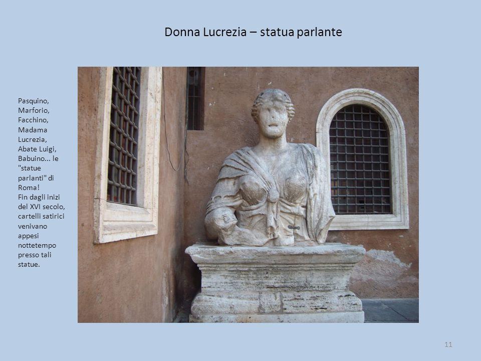 Donna Lucrezia – statua parlante