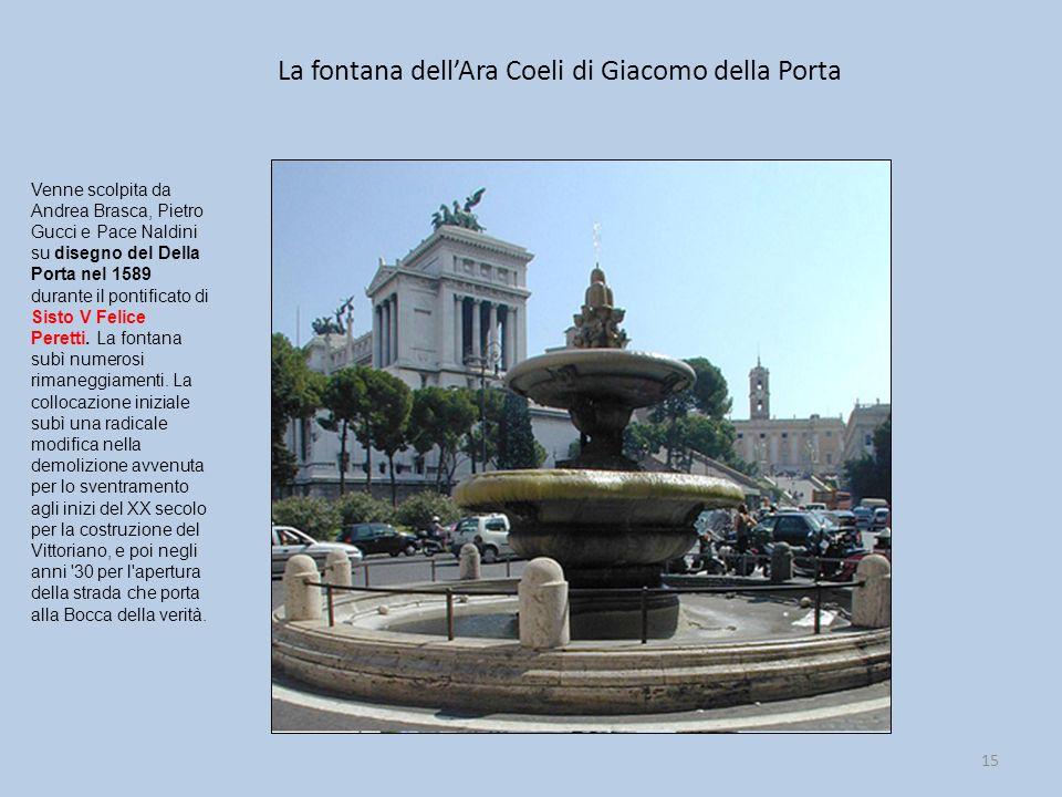 La fontana dell'Ara Coeli di Giacomo della Porta