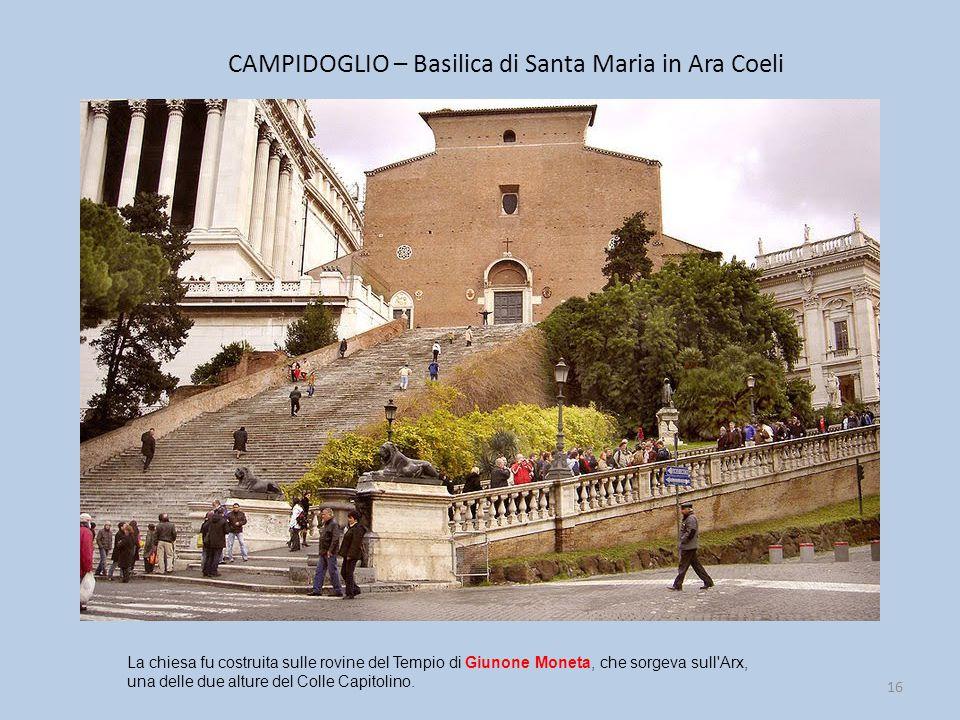 CAMPIDOGLIO – Basilica di Santa Maria in Ara Coeli