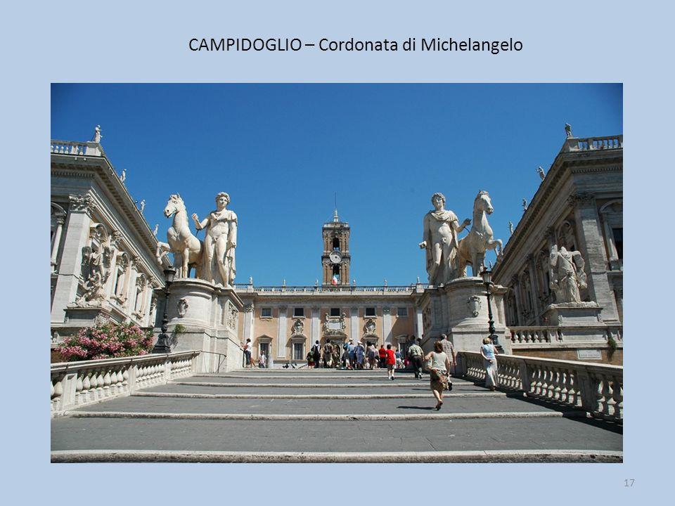 CAMPIDOGLIO – Cordonata di Michelangelo