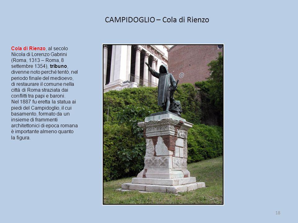 CAMPIDOGLIO – Cola di Rienzo