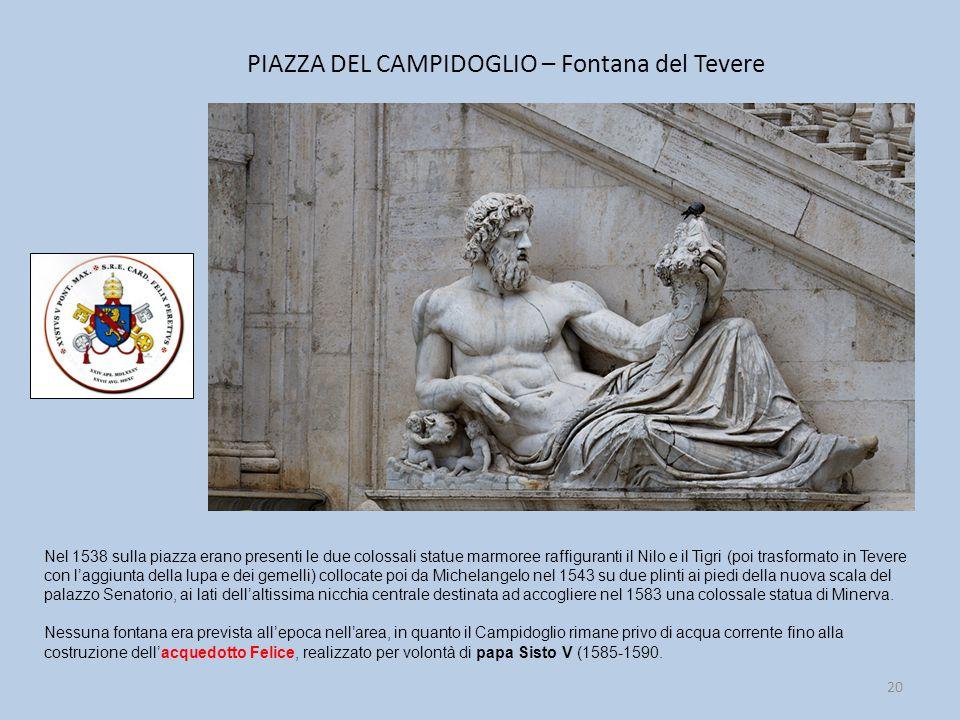 PIAZZA DEL CAMPIDOGLIO – Fontana del Tevere