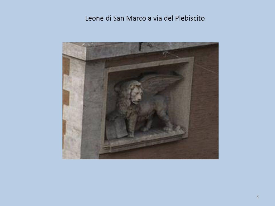 Leone di San Marco a via del Plebiscito