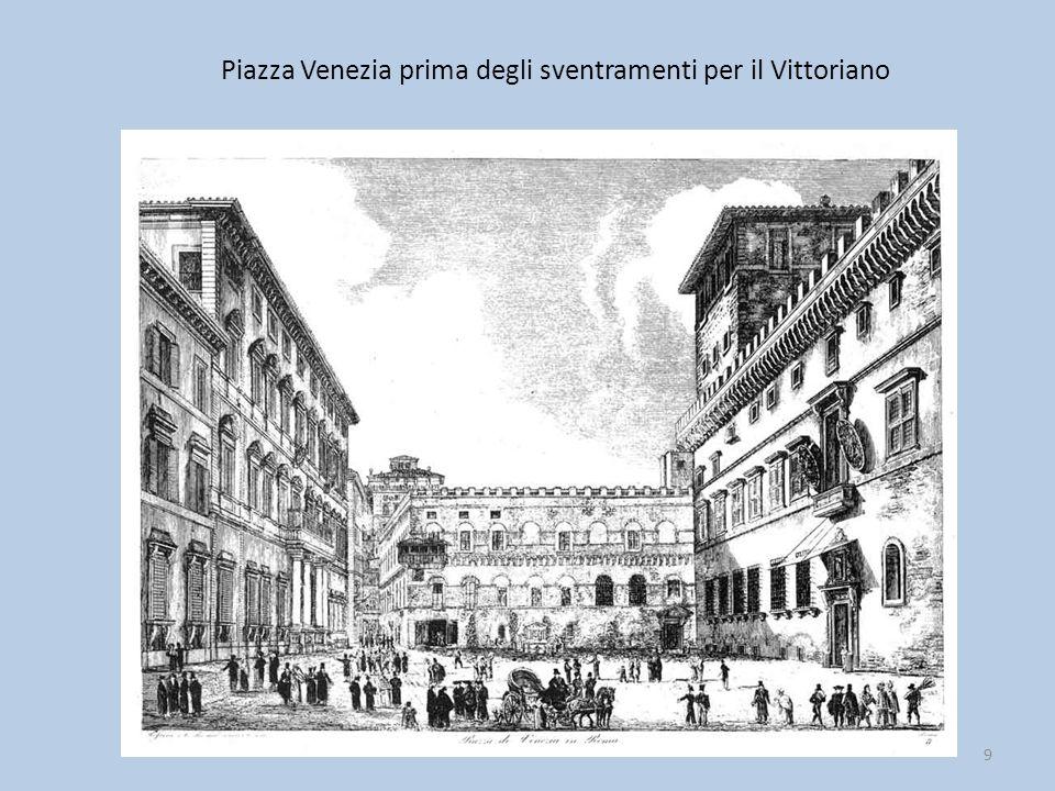 Piazza Venezia prima degli sventramenti per il Vittoriano