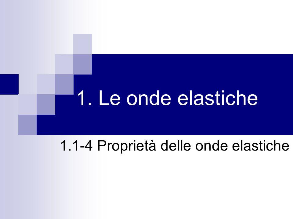 1. Le onde elastiche 1.1-4 Proprietà delle onde elastiche