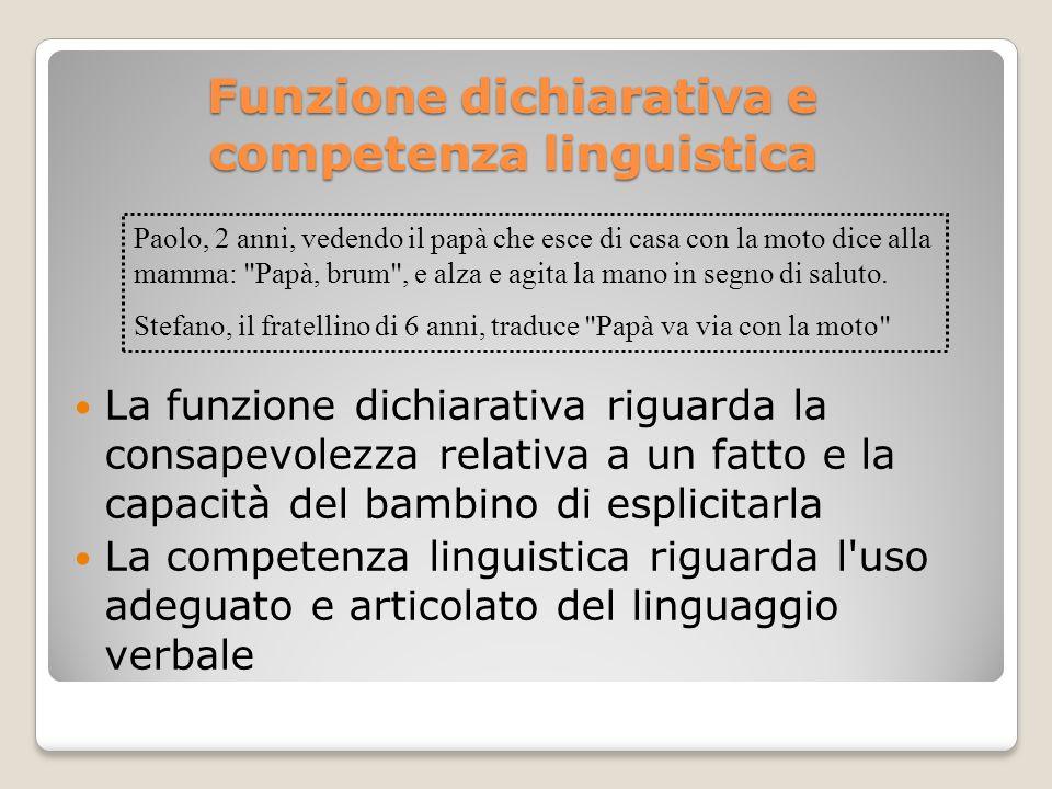 Funzione dichiarativa e competenza linguistica
