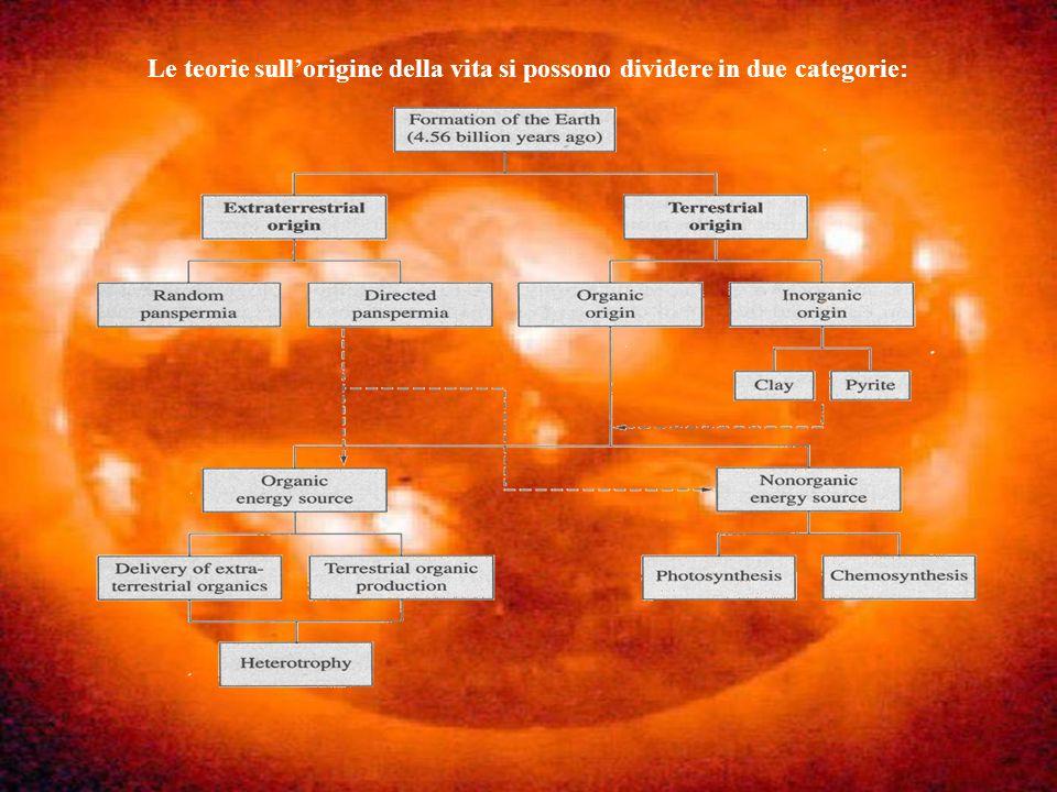 Le teorie sull'origine della vita si possono dividere in due categorie: