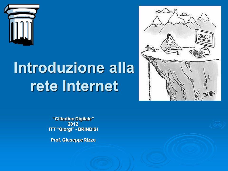 Introduzione alla rete Internet