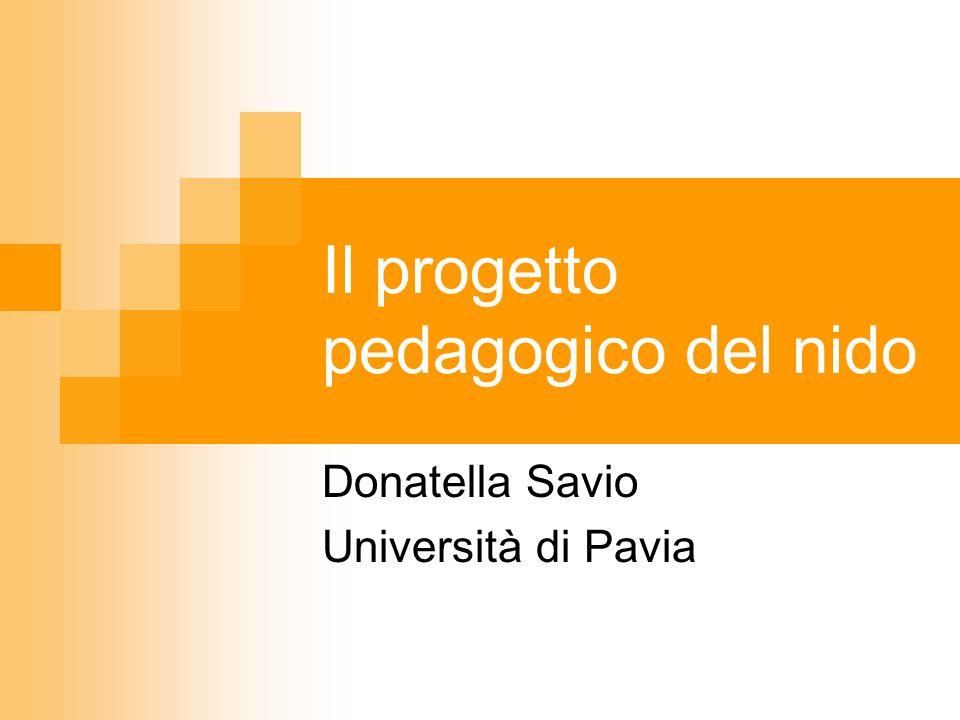 Il progetto pedagogico del nido