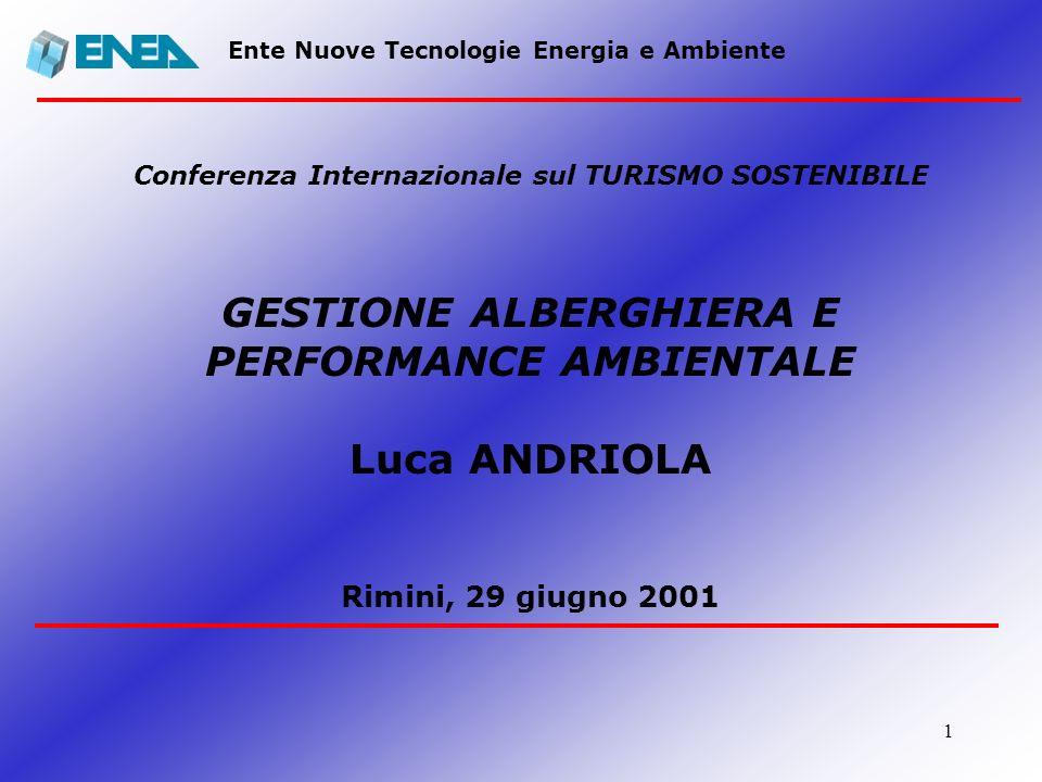 Conferenza Internazionale sul TURISMO SOSTENIBILE