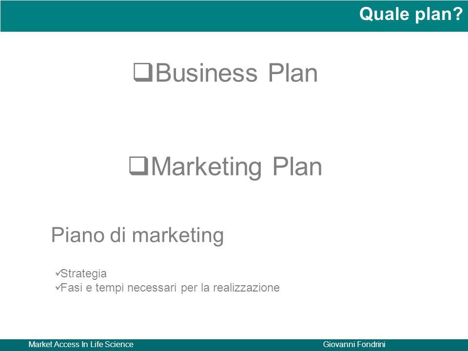 Business Plan Marketing Plan Piano di marketing Quale plan Strategia