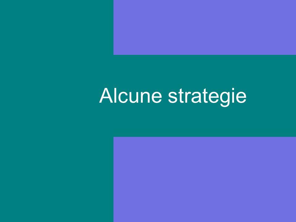 Alcune strategie