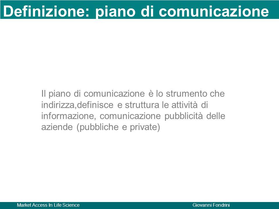 Definizione: piano di comunicazione