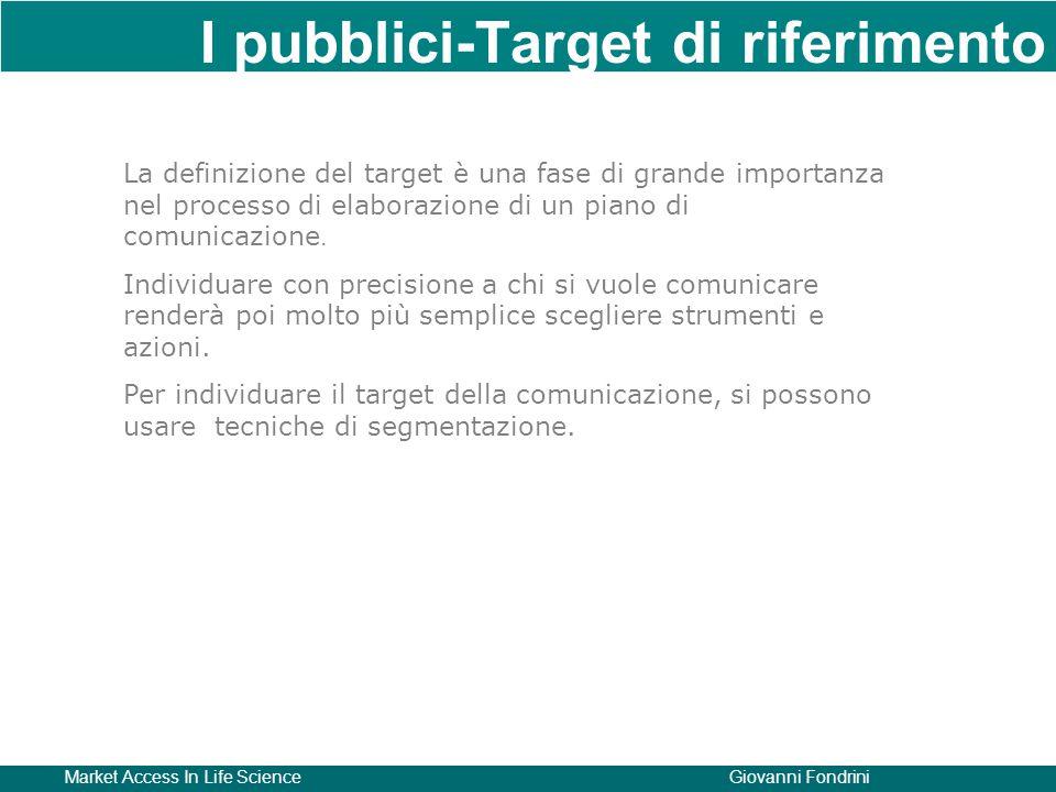 I pubblici-Target di riferimento