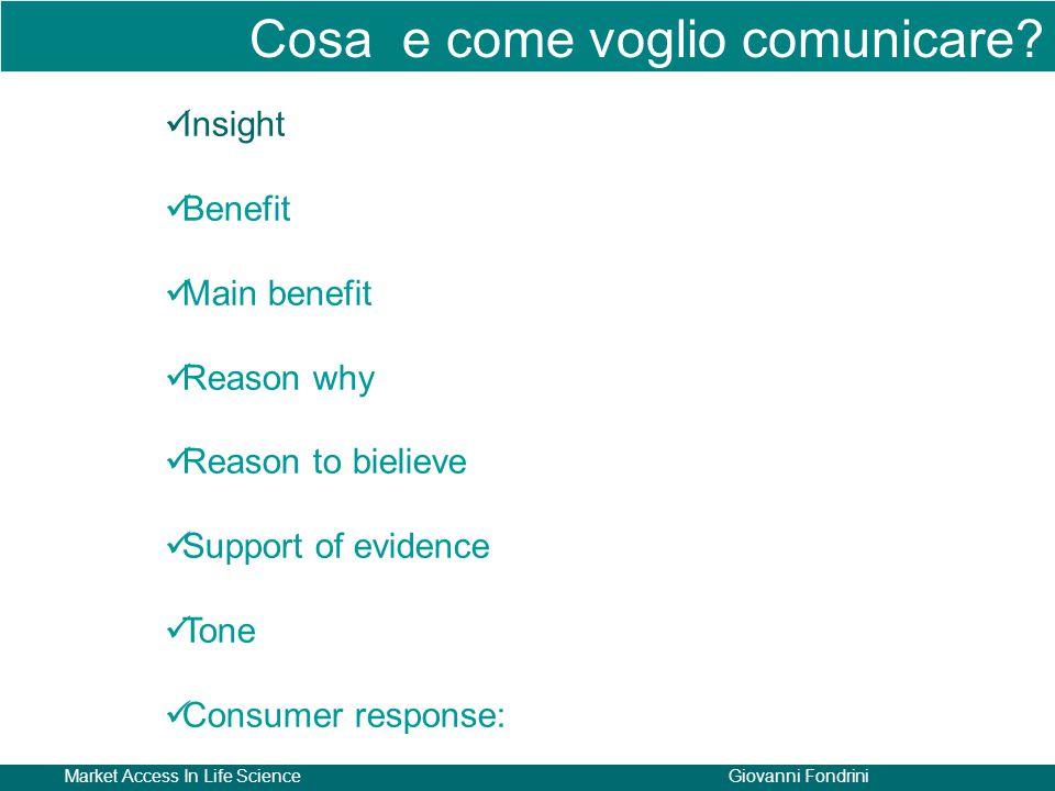 Cosa e come voglio comunicare