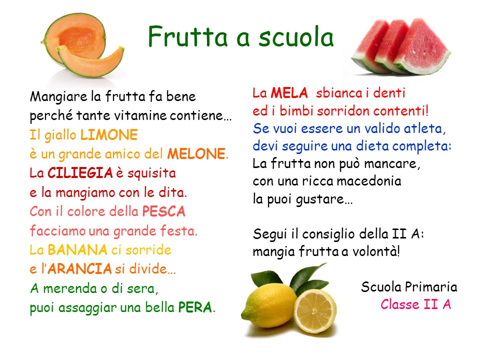 Frutta a scuola