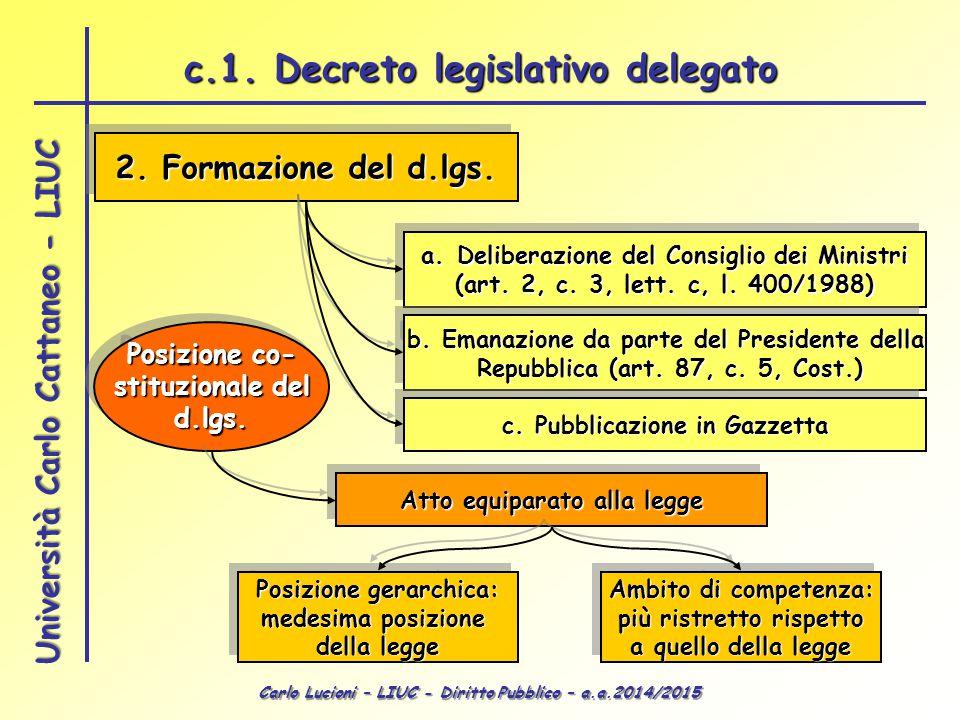 c.1. Decreto legislativo delegato