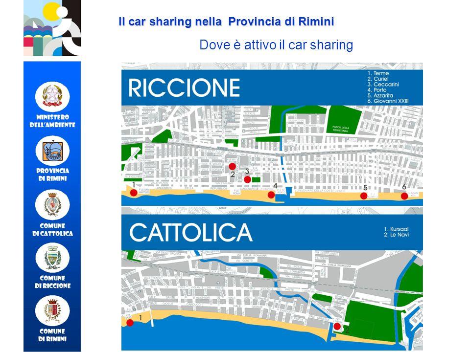 Dove è attivo il car sharing